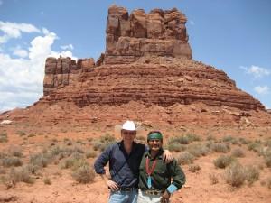 Ruslan Garipov and Jayson Betsuie (Navajo Medicine Man)