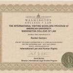 Ruslan Garipov. AU WCL Certif 2015